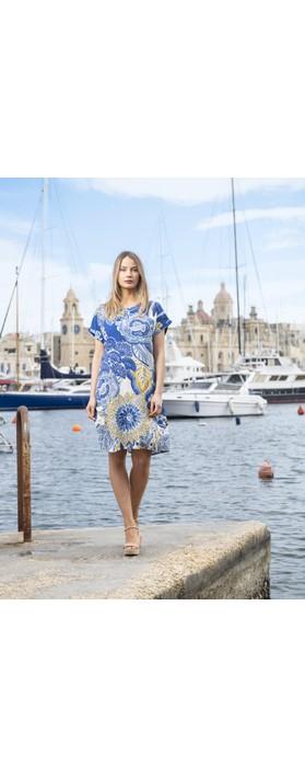 Orientique Seville SS Dress Blue Multi