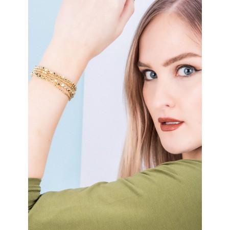 Boho Betty Whistle Four layer Bracelet Stack  - Gold