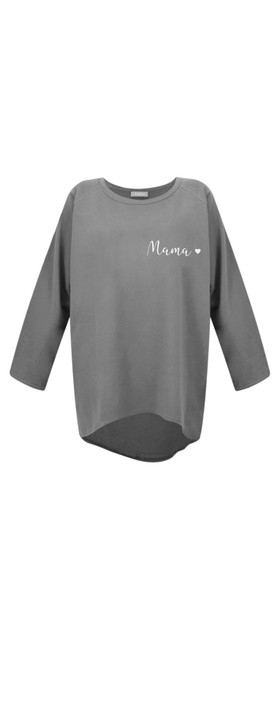 Chalk Robyn Mama Top - Gemini Exclusive! Charcoal / White