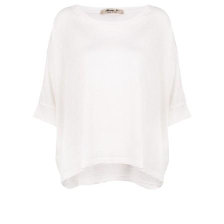 Mama B Lago L Fine Linen Jumper - White