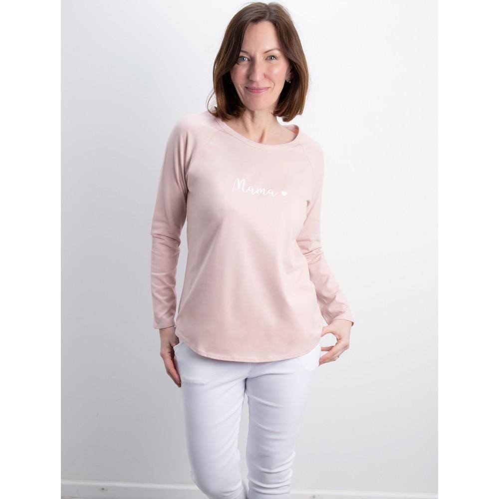 Chalk Tasha Mama Top- Gemini Exclusive ! Pink / White