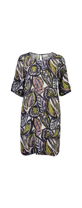 Foil All About The Sleeve Dress Tropical Leaf