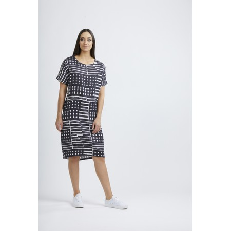 Foil Scaling Up Linen Dress - Multicoloured