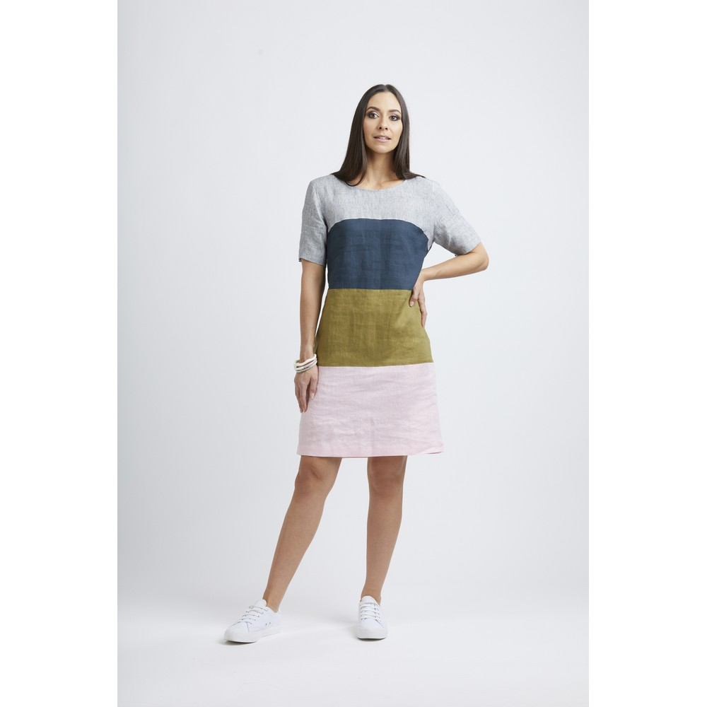 Foil Band Of The Others Dress Blush Mix