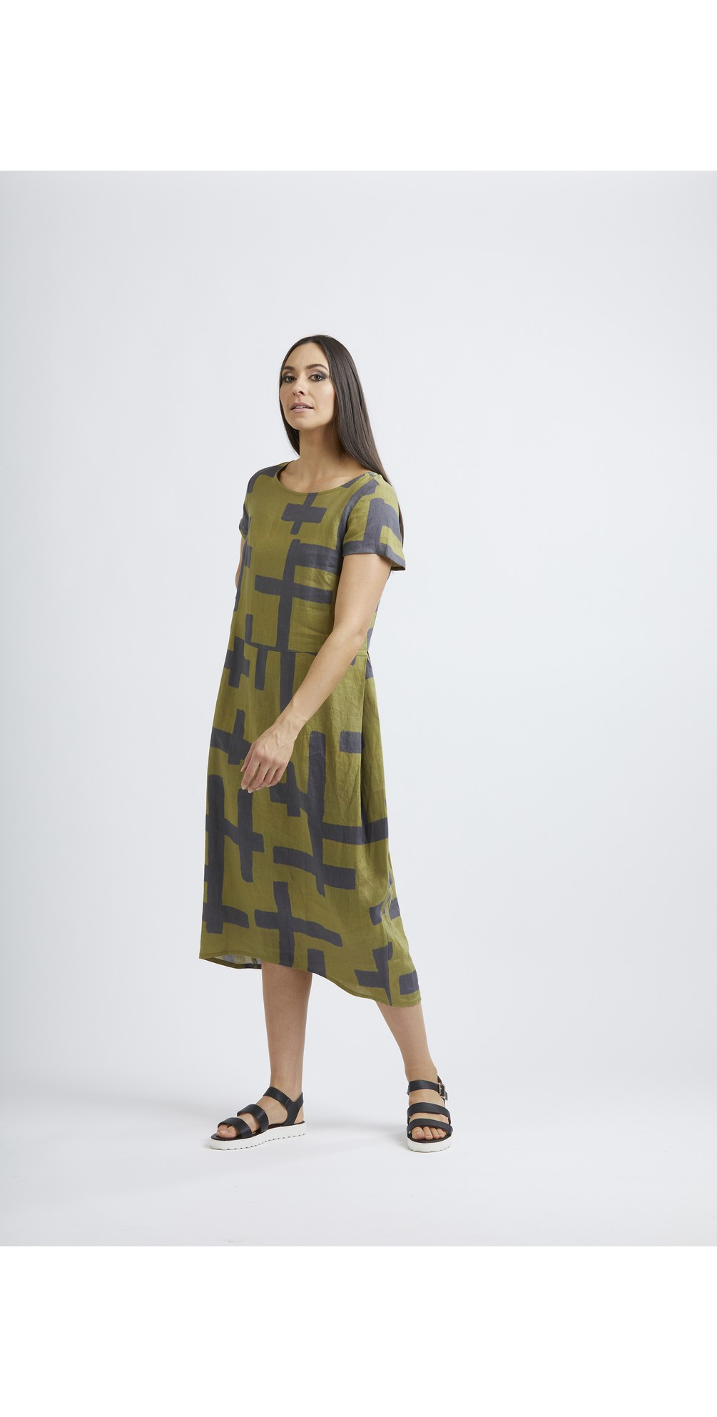 Low Is Key Linen Dress main image