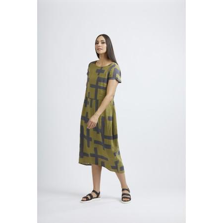 Foil Low Is Key Linen Dress - Multicoloured