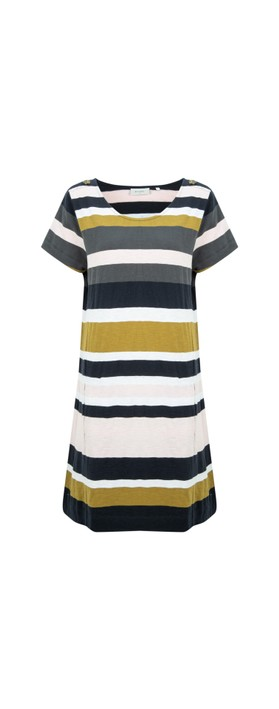 Foil Captains Salute Dress Multi Stripe