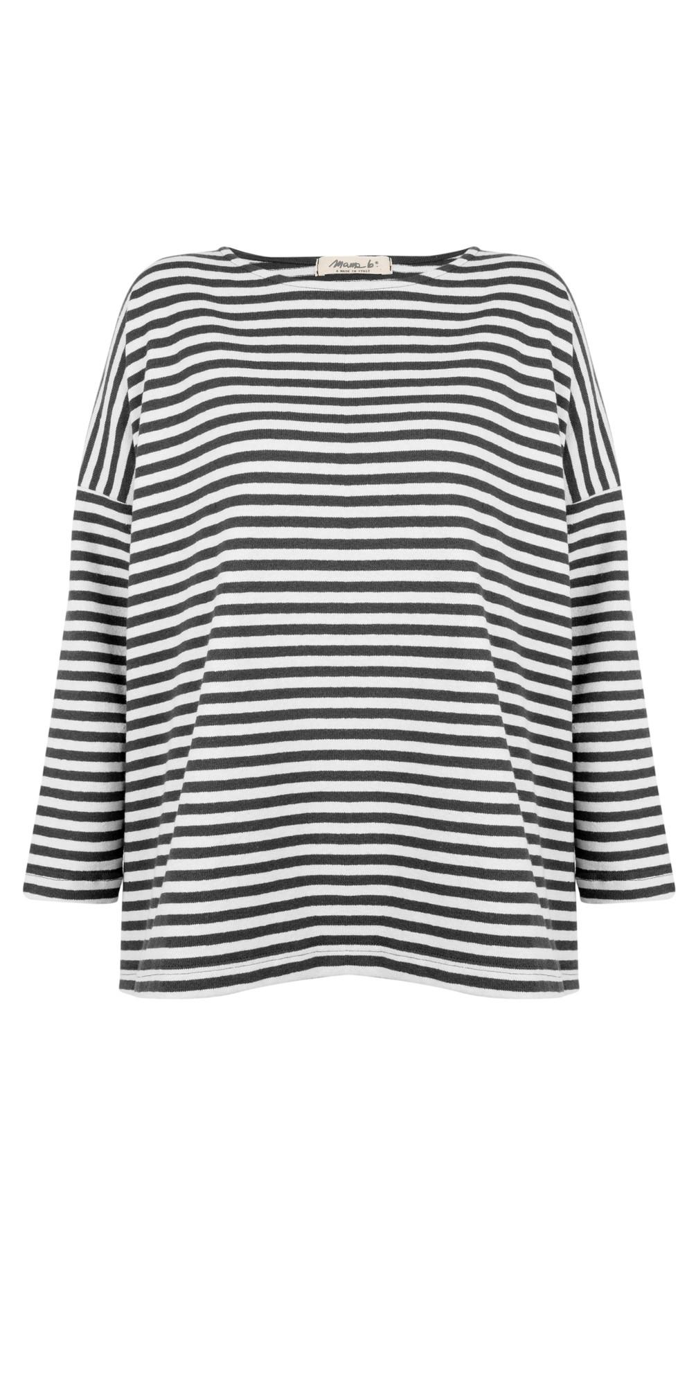 Ruche Stripe Fleece Top main image