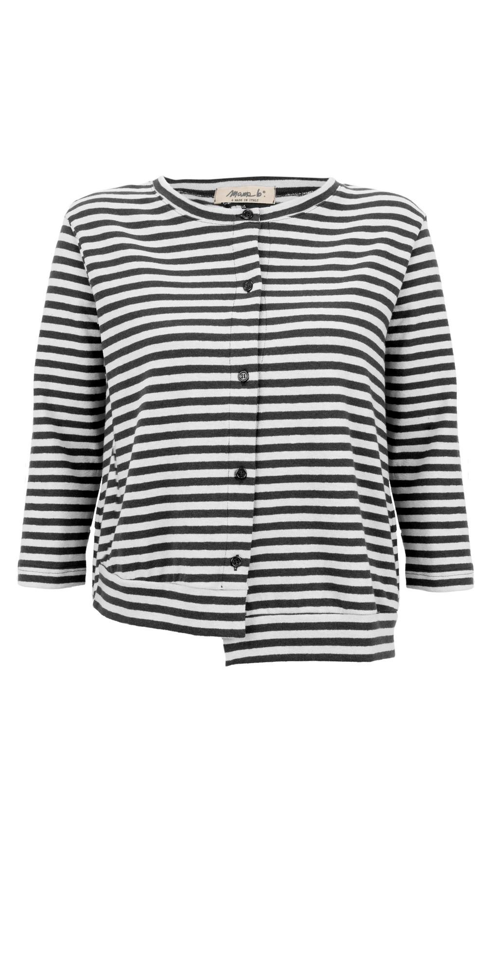 Erbaluce Stripe Fleece Cardi main image