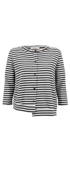 Mama B Erbaluce Stripe Fleece Cardi Nero Stripe