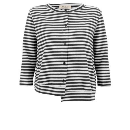 Mama B Erbaluce Stripe Fleece Cardi - Black