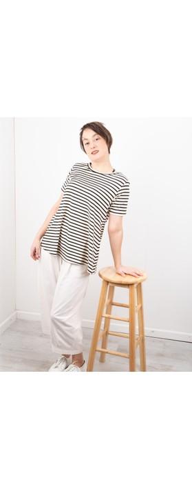 Mama B Atollo R Stripe T-Shirt Nero Stripe