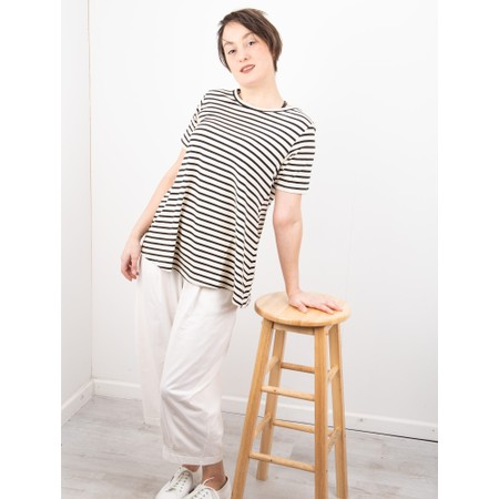 Mama B Atollo R Stripe T-Shirt - Black