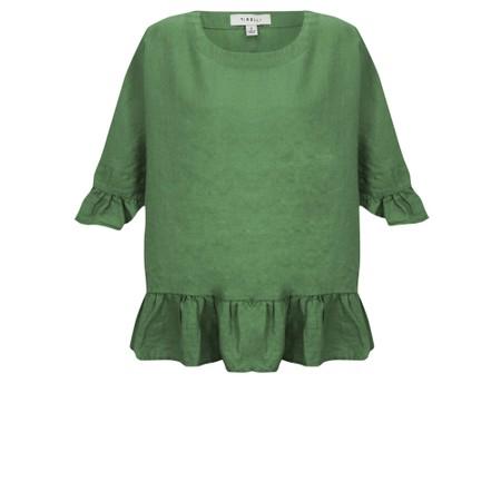 Tirelli Frill Hem Top - Green
