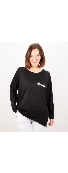Chalk Robyn Mama Top - Gemini Exclusive! Black / White