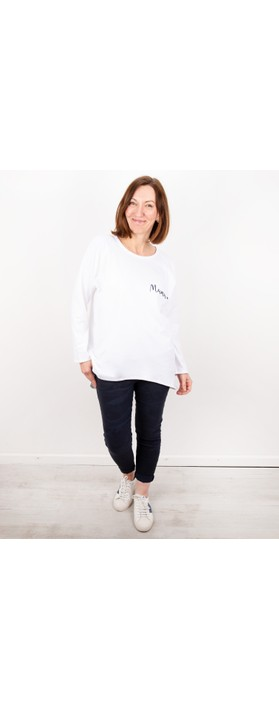 Chalk Robyn Mama Top - Gemini Exclusive! White / Navy