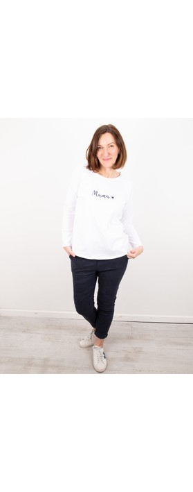 Chalk Tasha Mama Top- Gemini Exclusive ! White / Navy
