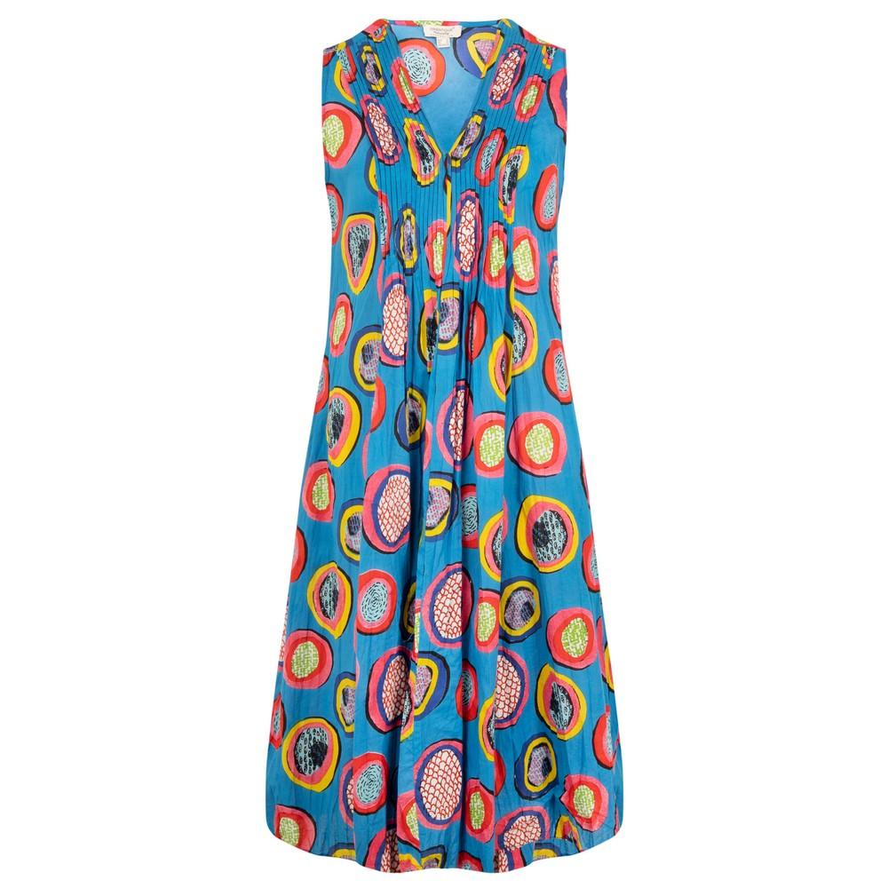 Orientique Catalonia V Pleated Sleeveless Dress Bright Multi A