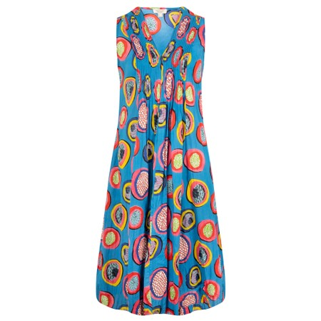 Orientique Catalonia V Pleated Sleeveless Dress - Multicoloured