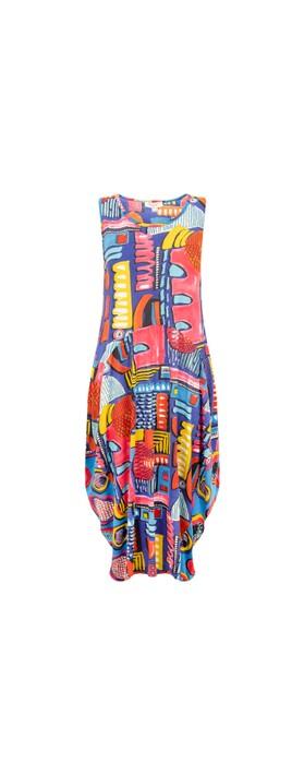 Orientique Catalonia Bubble Dress Bright Multi B