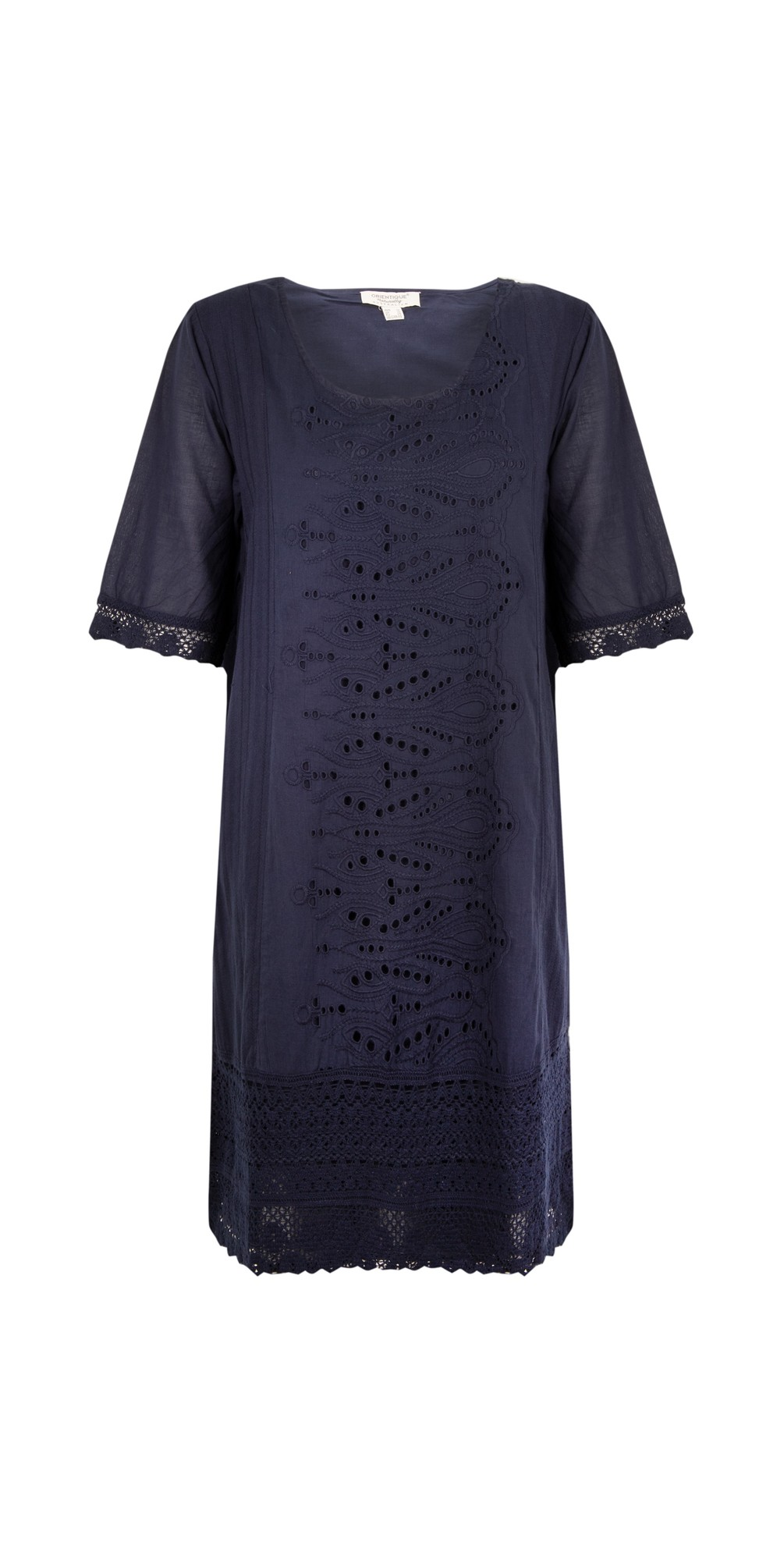 Certified Organic Broderie Dress main image