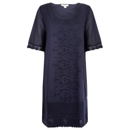 Orientique Certified Organic Broderie Dress - Blue