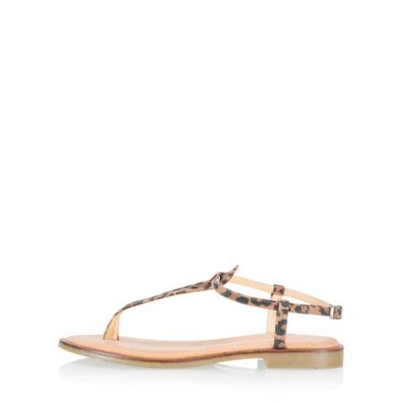 Gemini Label Shoes Sammie Icon Suede Flat Sandal - Beige