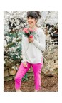 Amazing Woman White Maggie Seam Front Supersoft Jumper
