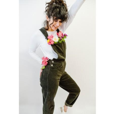 Amazing Woman Daisy Dungaree - Green