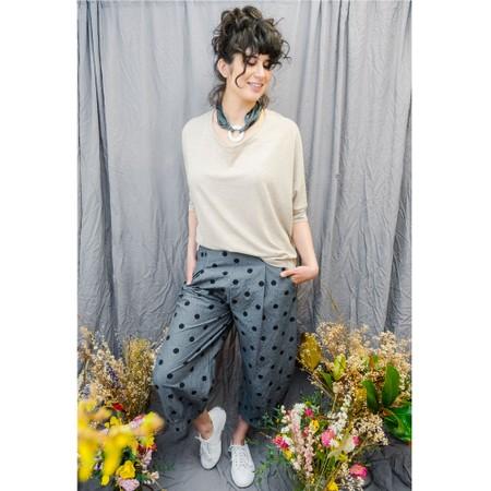 Mama B Bianco C Spot Trousers - Blue