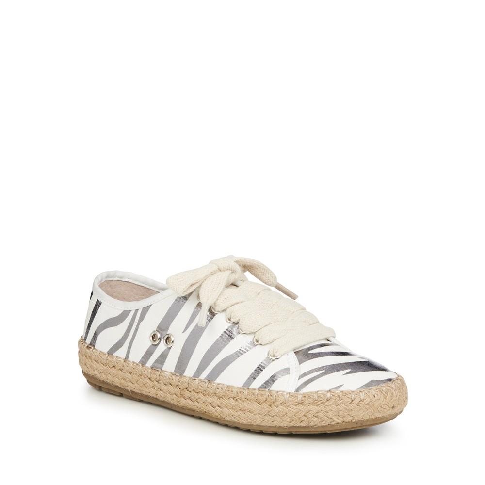 EMU Australia Agonis Espadrille LaceUp Shoe Zebra Coconut