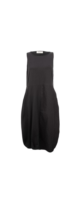 Mama B Barolo Poplin Dress Nero