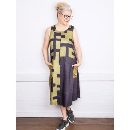 Foil Tetris Colour Block Dress - Multicoloured