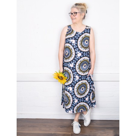 Foil Frill and Grace Dress - Yellow