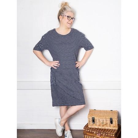 Foil Straight Talker Dress - Blue