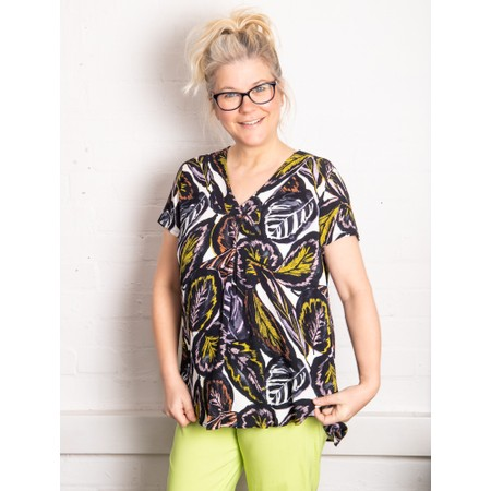 Foil Pleat Of The Moment Top - Multicoloured