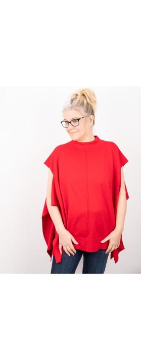Amazing Woman Tori Poncho Red