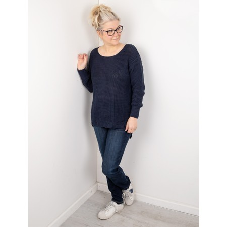 Amazing Woman Vonnie Fine Knit Summer Jumper - Blue