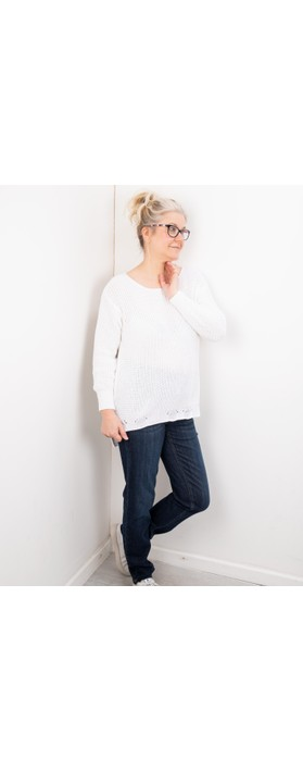 Amazing Woman Vonnie Fine Knit Summer Jumper White