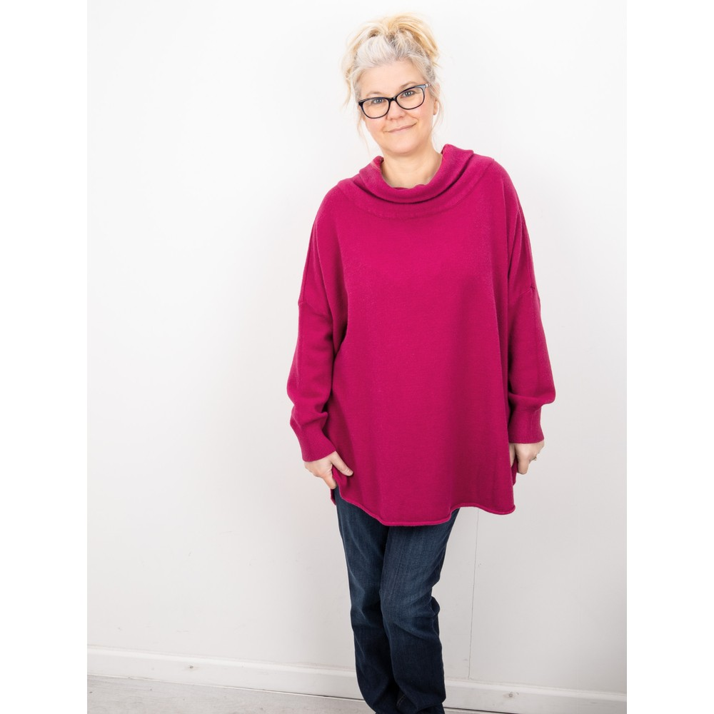 Amazing Woman Vera Oversized Knit Jumper Rose