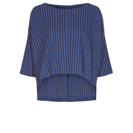 Thing Reba Cotton Stripe Top - Blue