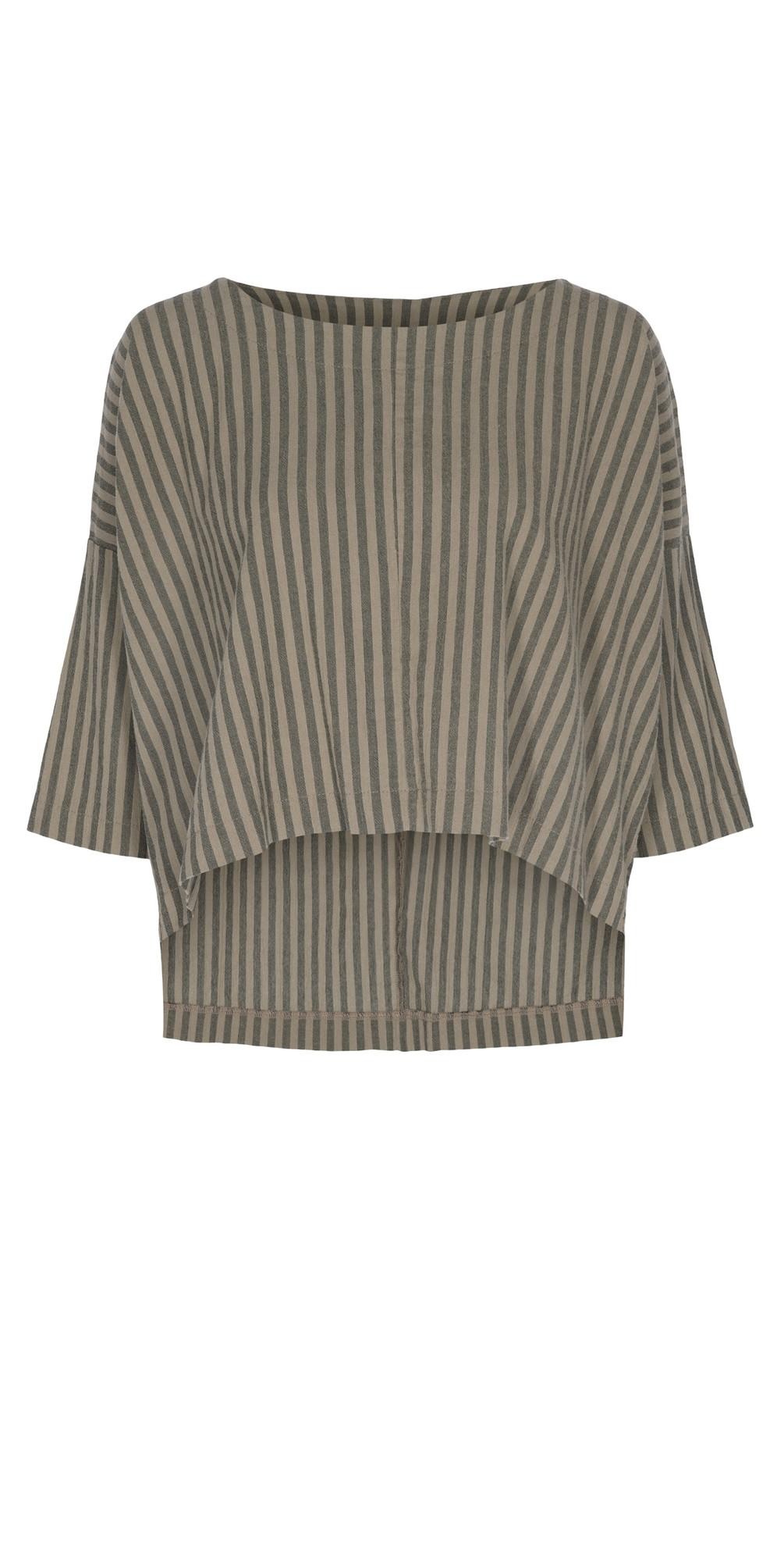Reba Cotton Stripe Top main image