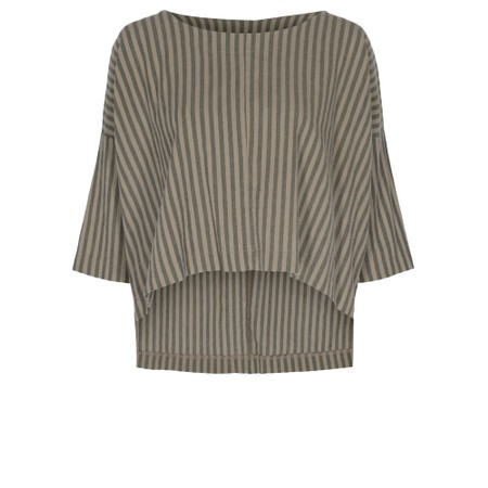 Thing Reba Cotton Stripe Top - Beige
