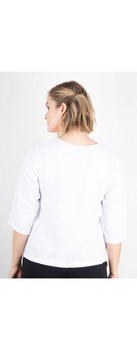 Thing Erin Easyfit 2 Pocket Linen Top White
