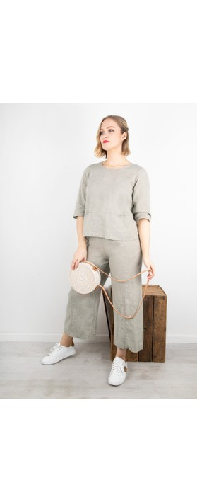 Thing Erin Easyfit 2 Pocket Linen Top Linen