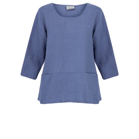 Thing Erin Easyfit 2 Pocket Linen Top - Blue