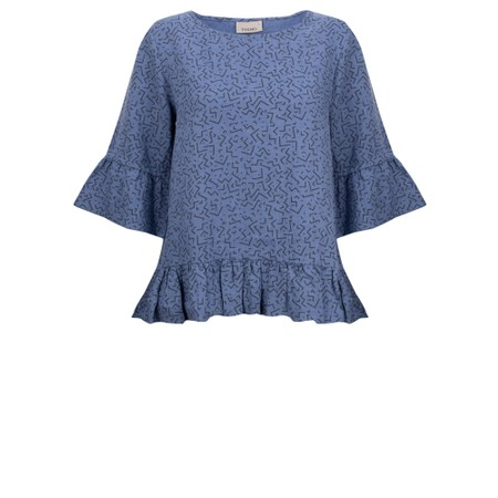 Thing Frida Linen Top - Blue