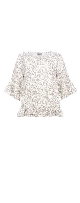 Thing Frida Linen Top Off White