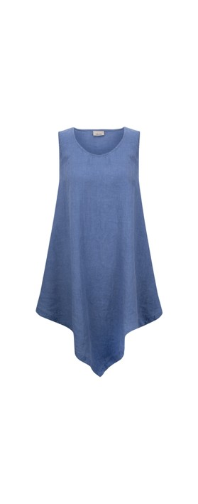 Thing Indi Easyfit Linen Sleeveless Top Sapphire