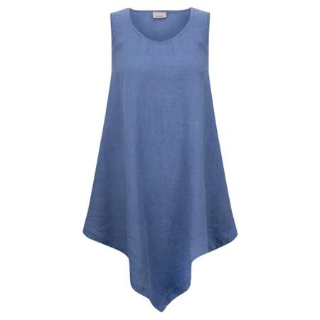 Thing Indi Easyfit Linen Sleeveless Top - Blue